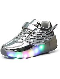 Mr.Ang Luces LED coloridos parpadeante Auto-párrafo ruedas de patines de rueda patín zapatos Zapatos del patín zapatos deportivos Chicos y chicas de calzado deportivo