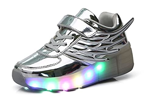 Mr.Ang Unisex LED Licht 7 Farbe Farbwechsel Sneaker Skate Shoes