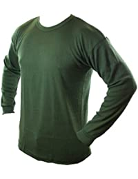 Highlander Thermal Long Sleeve Baselayer ― Available in Black, White and Olive Green  ― Ideal for Walking, Cycling, Football, Outdoor Events
