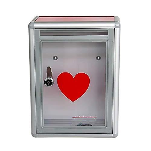 Scatola di plastica trasparente a forma di cuore impermeabile con scatola di plastica donata trasparente