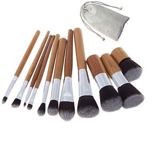 WESEEDOO Maquillage Pinceau Set 10 Pièce Poudre Maquillage Pinceaux Fondation Eyeliner Correcteur Pinceau Pinceau pour Le Visage des Yeux