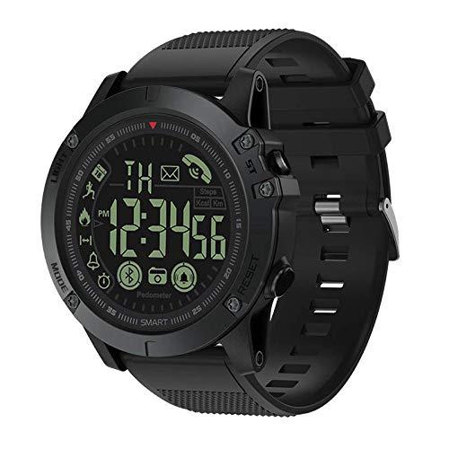 T1 Tact Mens Digital Sports Watch wasserdichte Outdoor Military Grade Super Tough Schrittzähler Kalorienzähler Multifunktions Bluetooth Smart Uhr (Schwarzes) -