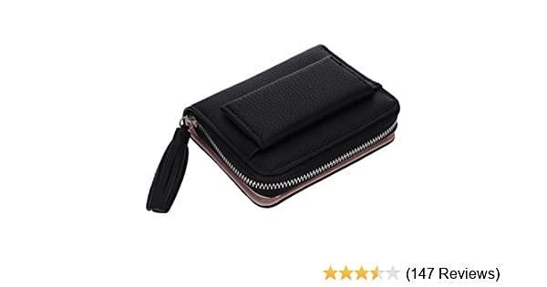 cf8a478e5519 HuntGold 1X Women Portable Alligator Texture Wallet Zipper Clutch Bag  Handbag Coin Purse(black)
