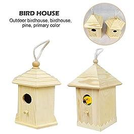 Sponsi Casetta per Uccelli in Legno per casa, Appendiabiti da Giardino per Esterni Casetta per nidi pensili per Tettone Blu Tette al Carbone Marsh Tits Tree Sparrow Uccelli Piccoli