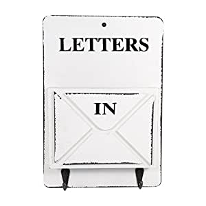 Wooden Mail Box Letter Rack Wall Mounted Mail Sorter