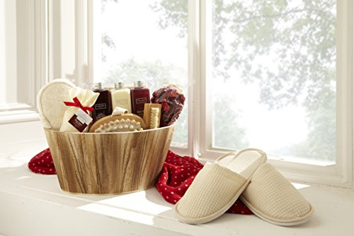 Winter in Venice - Rich Plum Oval Bowl Gift Set