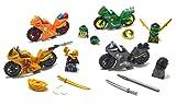 ARUNDEL SERVICES EU Mini Figuren 4 Motorräder Ninja Motorräder Bausteine Bausteine Lego Kompatibel Lego kompatible Minifigur Spielzeug Motorräder