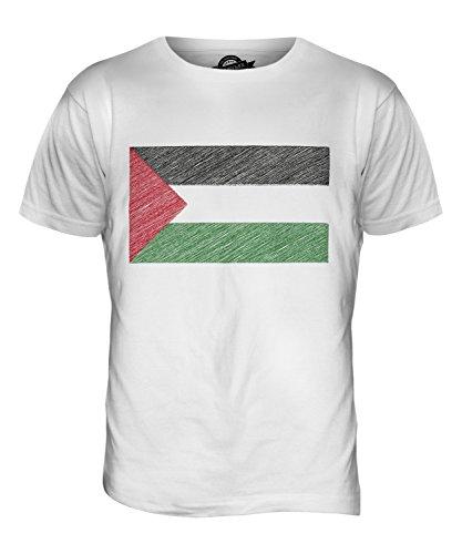CandyMix Palestine Kritzelte Flagge Herren T Shirt Weiß