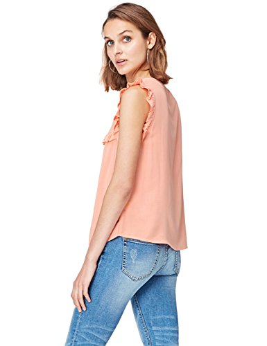 find. Sleeveless Ruffle  Camicia Donna, Rosa (Watermelon), 40 (Taglia Produttore: X-Small)