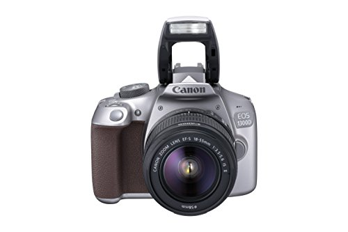 Canon EOS 1300D 18MP Digital SLR Camera (Grey) + 18-55mm IS II Kit Lens + 16GB Memory Card + Carrying Bag