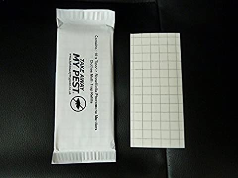 CLOTHES / CARPET MOTH TRAP REPLACEMENT REFILL PADS