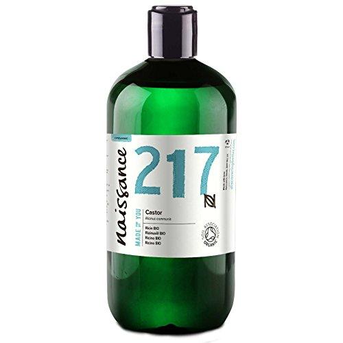 Naissance Aceite de Ricino BIO 500ml - Puro, natural, certificado ecológico, prensado en frío, vegano, sin hexano, no OGM - Hidrata y nutre el cabello, las cejas y las pestañas
