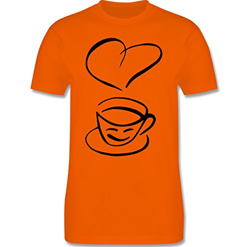 Küche - I Love Coffee - Herren Premium T-Shirt Orange