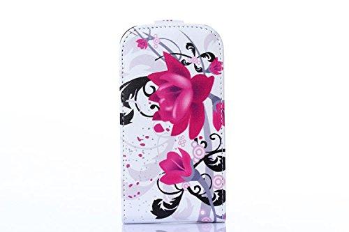 Cuir Coque Strass Case Etui Coque étui de portefeuille protection Coque Case Cas Cuir Swag Pour Samsung Galaxy Trend Lite S7392 S7390 B01