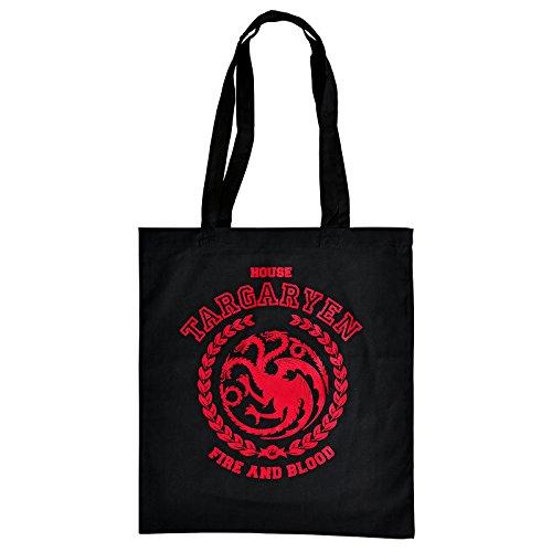 Game of Thrones Jutebeutel Targaryen Wappen Drache von Elbenwald schwarz