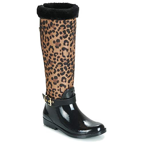 Guess Cicely Boots Femmes Black/Leopard Wellington Boots