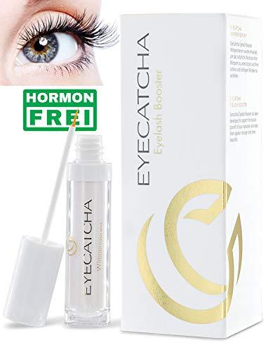 Eyecatcha Wimpernserum ohne Hormone für längere Wimpern, 3ml, Wimpernwachstum Eyelash Booster, natürliche Wimpernverlängerung