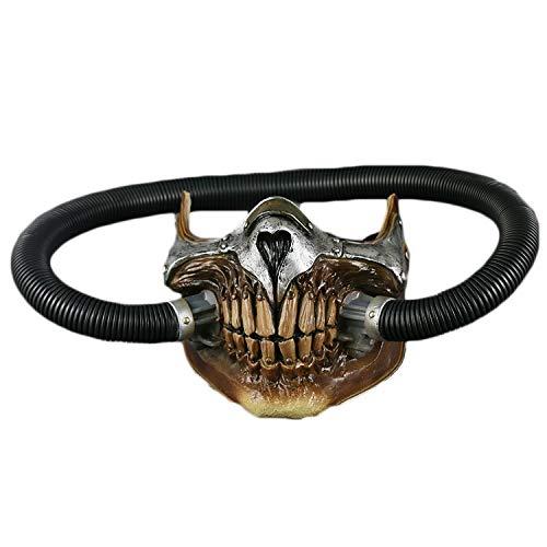 Max Batman Kostüm - Yujingc Mad Max Maske Helm COS Halloween Cosplay Maske Requisiten Horror Bösewicht Lustige Maskerade Show Thema Party Kopf Cosplay Prop,Black,19 * 16cm