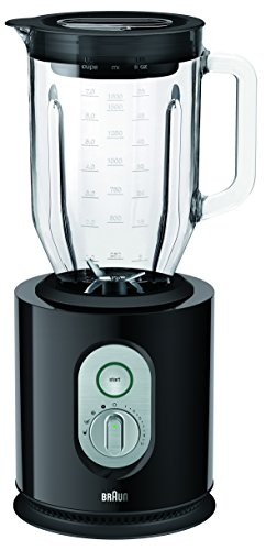 Video Jb (Braun IdentityCollection JB 5160 Standmixer, 1.000 W, 22.500 U/min, ThermoResist Glas-Mixbehälter (1,6 l), schwarz)