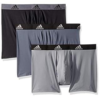adidas Men's Sport Performance Climalite Boxer Brief (3-Pack) Underwear, Onix Grey/Black, Medium