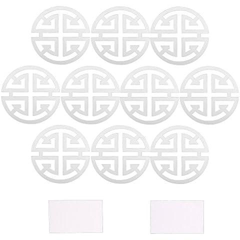 10x Specchio Stili Murale Smontabile Arte Decalcomania Decorazione Adesivi -