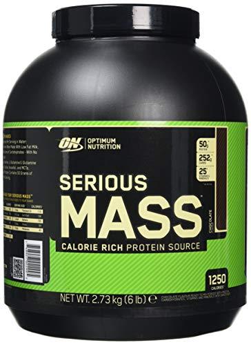 optimum nutrition serious mass, proteine in polvere per aumentare la massa muscolare, cioccolato, 2.73 kg, 8 porzioni nutritioni
