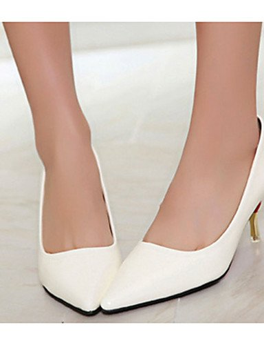 WSS 2016 Chaussures Femme-Décontracté-Noir / Vert / Rouge / Blanc / Orange-Talon Aiguille-Talons-Talons-Laine synthétique white-us6 / eu36 / uk4 / cn36