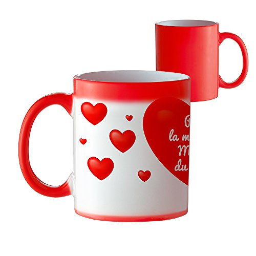 Tassenwerk tazza–tazza da caffÈ cuore che cambia colore con scritta–per la migliore mamma del mondo–standard–tazza con effetto termico come idea regalo per mamme–festa della mamma