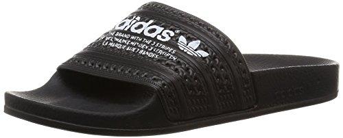 Adidas Adilette- Sandali a punta aperta Multicolore (Cblack/Cblack/Ftwwht)