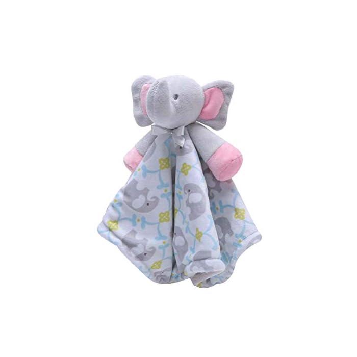 YeahiBaby Baby gefüllte Elefant Tier Sicherheitsdecke Plüsch beruhigend Spielzeug für Neugeborene Baby Kleinkind