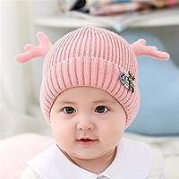 ETMAAA Herbst Und Winter Baby Wollmütze Kinder Kleine Geweih Baumwolle Futter Stricken Warme Mütze Baby Ohrenschützer Kappe