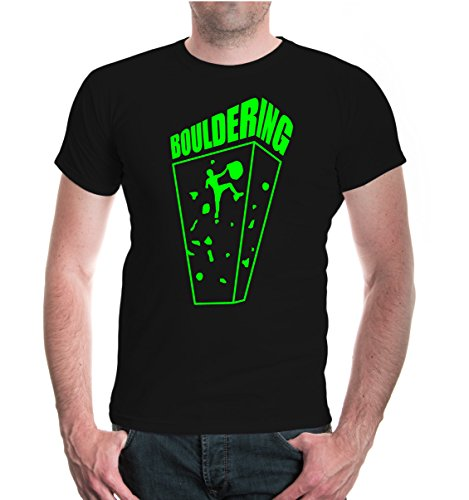 buXsbaum® T-Shirt Bouldering Black-Neongreen