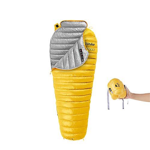 JIASHU Outdoor White Goose Damé Mumie Schlafsack Outdoor 0°F - 20°-30°F Down Schlafsack, Ultra Leichtgewicht entwickelt für Backpacking 4 Saison -