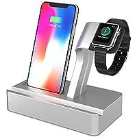 X-DODD 2 en 1 Apple Watch Stand con iPhone Cargador Dock Station Holder Display Cradle para iPhone 7/7 Plus / 6S / 6S Más 6/6 Plus / 5S / 5 / SE iWatch 42mm y 38mm Todos los modelos (type 1)