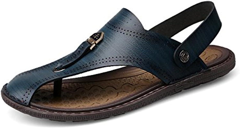 Herren Sommer Sport Sandalen Leder Closed Toe Outdoor Sandalen Trekking Schuhe Atmungsaktive Rutschfeste Herren