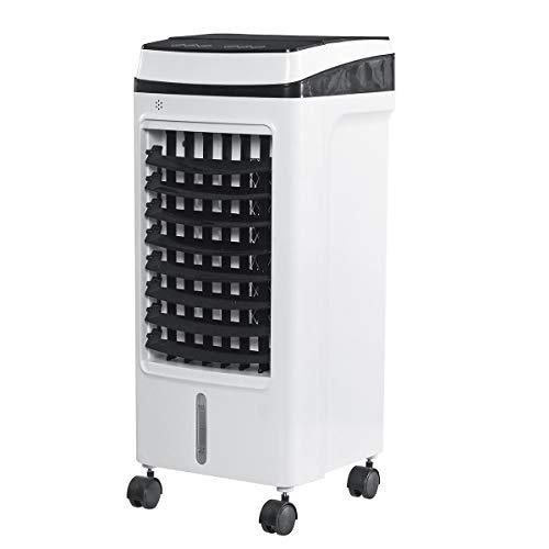 CNNAir Lufterfrischer • 3-in-1-Klimageräte Ventilator • Luftbefeuchter • 360 m³ Klimaanlage • 3 Leistungsstufen • Eingebauter Staubfilter(Weiß)