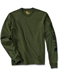 Carhartt. EK231. ARG. S005 Sleeve Logo T-Shirt, Medium, Army Green