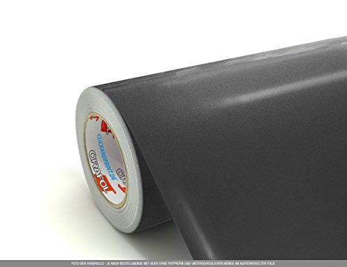 CLICKANDPRINT  3m Klebefolie, 63cm breit, Graphit metallic » DVD-Beschriftungsaufkleber/Digitaldiskaufkleber/Blue-Ray-Aufkleber/Videoaufkleber Graphit-dvd