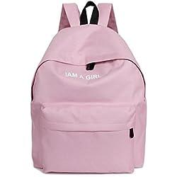 mochilas escolares juveniles niña Switchali bolsas escolares moda Mochila escolares niño mochilas mujer casual Mochila bolsas deporte viaje (Rosado)