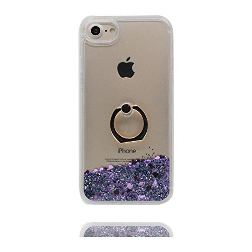"iPhone 7 Plus Coque, iPhone 7 Plus étui Cover (5.5 pouces), [Bling Bling Glitter bleu Fluide Liquide Sparkles Sables] iPhone 7 Plus Case (5.5""), Hard Shell Bling Ring Stand anti- chocs # 2"