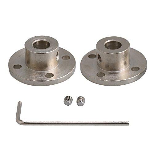cnbtr Silber 45# Stahl starr Flansch Kupplung Koppler Sitz mit Schrauben Schlüssel 2Stück, M6180626014 - 2 Stück Flansch