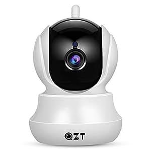 Telecamera IP, Videocamera di Sorveglianza Domestica Wifi 720P HD QZT con funzioni Pan/Tilt, Audio bidirezionale, Visione Notturna, Motion Detection, Allarme via email, Registrazione su micro SD , Controllo remoto da dispositivi IOS, Android e Windows