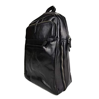 Leather black backpack genuine leather travel bag weekender sports bag gym bag leather shoulder ladies mens satchel light backpack - handmade-bags