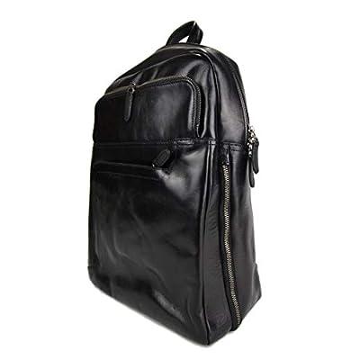 Leather black backpack genuine leather travel bag weekender sports bag gym bag leather shoulder ladies mens satchel light backpack - handmade-bags