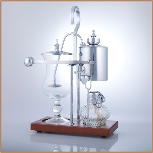 Royal Vienna Balance Coffee Master Silver Elegant 19th Century Belgium Style Luxury Balance Syphon Coffee Machine / Maker Capacity: 500ml / 17 oz. 3-5 Cup S4U®