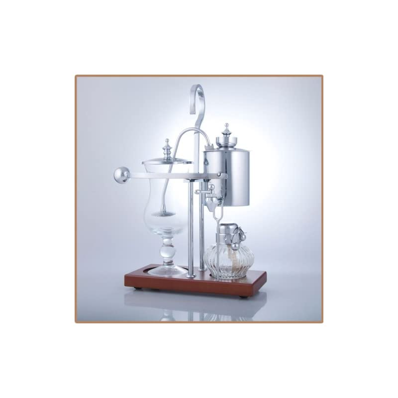 Royal Vienna Balance Coffee Master Silver Elegant 19th Century Belgium Style Luxury Balance Syphon Coffee Machine…