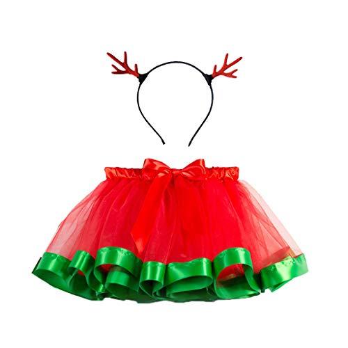 LEXUPE Babykleidung Strampler Neugeboren Säugling Baby Junge Mädchen Lange Hülse Spielanzug Tops Rot Hirsch Drucken Hose Weihnachten Kappe Outfits Baumwolle Kleider Set(B-Grün,M) -