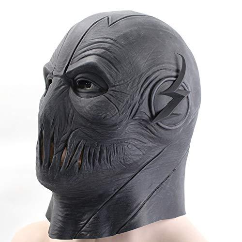 Reverse-Flash Máscara DC Barry Allen Máscara El Flash Cosplay Traje Prop Halloween Amarillo Cabeza Completa Latex Party Máscaras Adulto