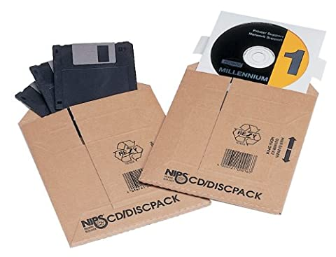 Nips Safe-Well Self-Adhesive Flap CD Disc Pack Corrugated Mailers Envelopes