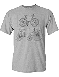 Bicicletta Maglietta: Disegno Bicicletta - T-Shirt da Bicicletta Come Regalo per i Ciclista - MTB - Corridore - Fixie - Mountain Bike - BMX - Regalo per Gli Amanti della Bicicletta